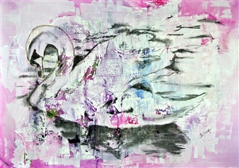 Diana Linsse - Faith Mixed Media on Canvas, Mixed Media