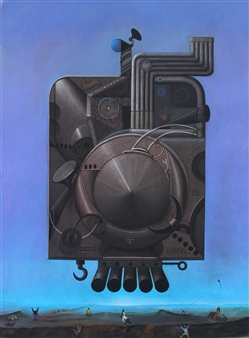 Pedro Vargas - Antigravity Machine Pastel on Paper, Paintings