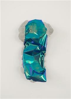 Mateusz von Motz - Prima Materia Energy Stone, Blue Mixed Media, Sculpture