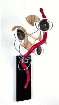 John Mark Luke - Poppies Mixed media-metal and wood, Sculpture