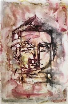Lorena Becerra - Diluted Budha 3 Monotype, Paintings