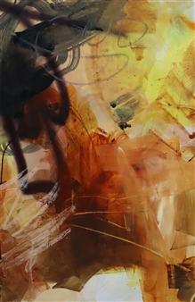 Abreesha Jones - Silent Passion Acrylic, Spray Paint, Oil Pastel on Canvas, Mixed Media