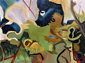 Veronica Keith - Three Pillars Oil on Canvas, Paintings