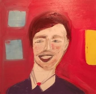 Ana Ingham - Brad Pitt Oil on Canvas, Paintings