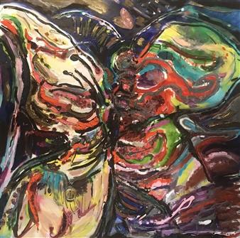 Lauralee Franco - So Fly Oil & Mixed Media on Canvas, Mixed Media