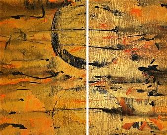 Ulrich T. Grabowski - Eternal Flames Acrylic on Canvas, Paintings