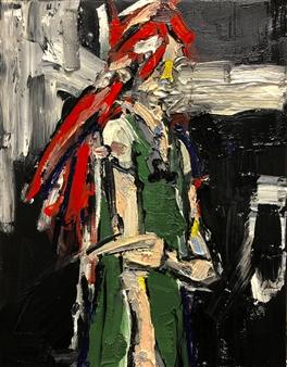 Nick Bautista - Portrait of Christine Oil on Canvas, Paintings