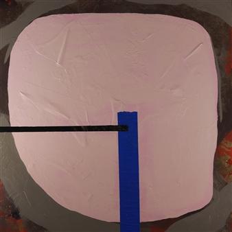 Joseph Masur - Geometric Contraption Acrylic & Paper on Canvas, Mixed Media