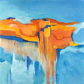 Pauline Rakis - Metamorphic Rock Acrylic on Canvas, Paintings