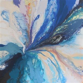 Rita Galambos - Between Dimensions III. Acrylic & Mixed Media on Canvas, Mixed Media