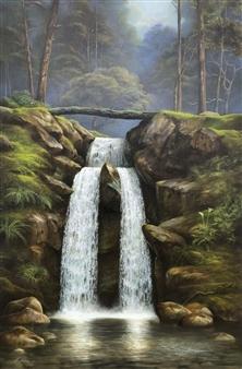 Mauricio Valdiviezo - Cascada Oil on Canvas, Paintings