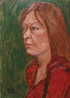 Masaoki Mitsutake - A Woman Above Her Chest No.8 Oil on Canvas, Paintings