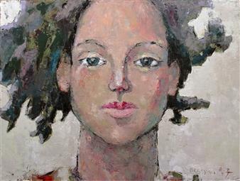 Becky Sungja Kim - Here I Am Oil on Canvas, Paintings