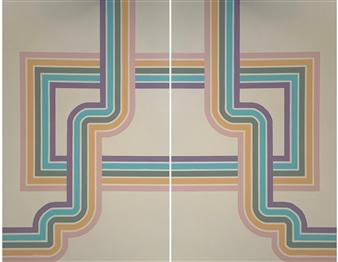 Jolie Dueñas - Direction 1 & 2, diptych Acrylic on Canvas, Paintings