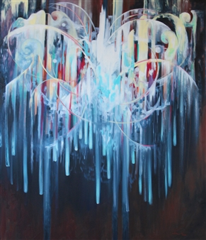Jenny Blomquist - Birth of Radiance Oil on Canvas, Paintings