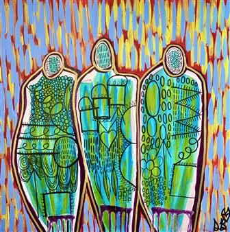 Sierra Barnes - Benefiting Acrylic on Canvas, Paintings