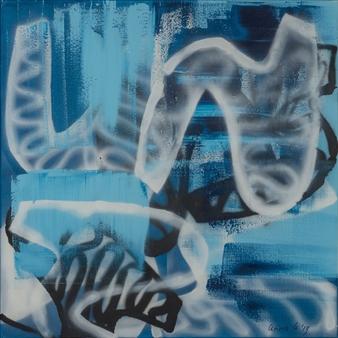 Katja van den Bogaert Anna K Art - Peeking at Freedom Acrylic on Linen, Paintings