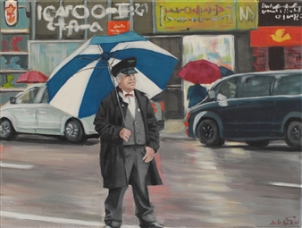 Arlette Zurbuchen - Street in NYC Acrylic on Canvas, Paintings
