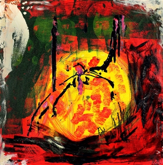Oliwia Biela - Both Ends Burning Oil & Acrylic on Canvas, Paintings