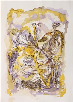 Marcela García Henríquez - No Before No After Lithography and ink on Paper, Mixed Media