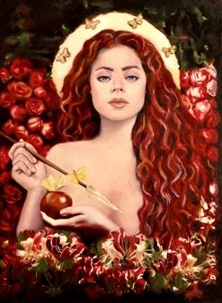 Mehrnosh Kaecker - Venus Verticordia Oil on paper, Paintings