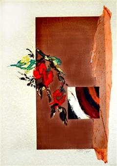 Cristina Prieto Crespi - Natura-Escaramujo Collage on Paper, Mixed Media