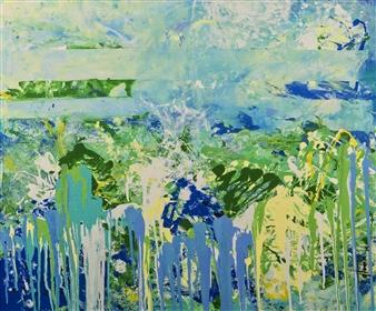 Gordana Tomic - Central Park Mixed Media on Canvas, Mixed Media