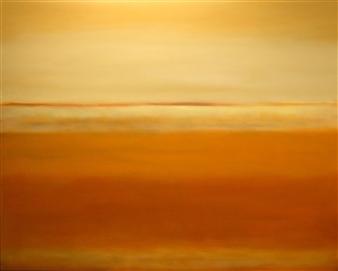 María de Echevarría - Mirage #2 Oil over Acrylic on Canvas, Paintings