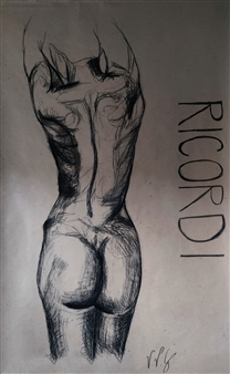 Vanessa Vilchis - Ricordi Charcoal on Paper, Drawings