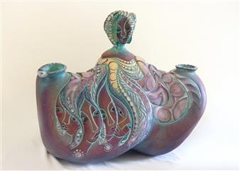 Nora Pineda - Duenas de la Olla Stoneware, Sculpture