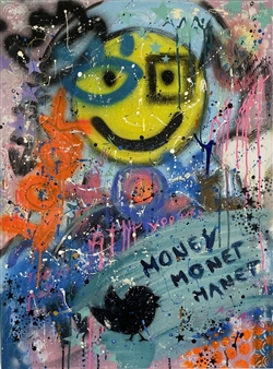 Lisa Gehres - No Rules Acrylic & Spraypaint on Canvas, Paintings