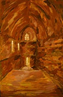 Caspar Baum - Rhodes Palace Oil on Canvas, Paintings