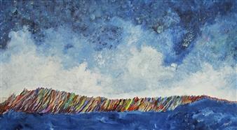 Joe Koury - Dancing Waves Acrylic on Canvas, Paintings