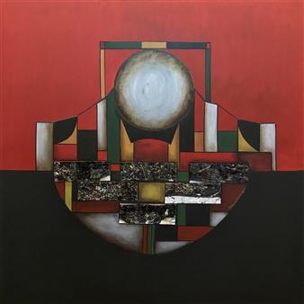 Patricia Queiruga - Ensemble III Mixed Media on Canvas, Mixed Media