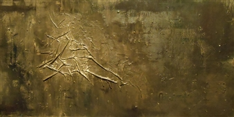 Carol Kavish - Fossil Acrylic & Mixed Media on Canvas, Mixed Media