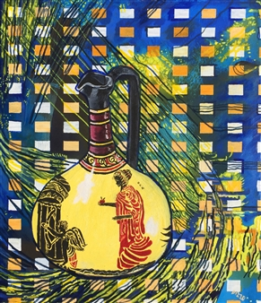 Di - Still Life with Space Oil on Canvas, Paintings