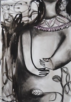 Melanie Young - Growing Ink & Mixed Media on Paper, Drawings