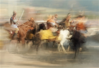 Danny Johananoff - Horse Show Photograph on Plexiglass, Photography
