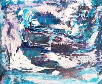 Makoto Oshima - No. 210518 Acrylic on Canvas, Paintings