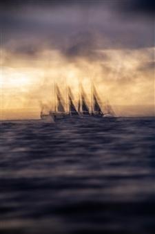 Renzo Sanchez-Silva - Phantom Sail Boat Digital C-Print on Aluminum, Photography