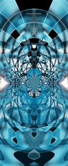 Vaydra Wright - A Kaleidoscope View of Inner City Buildings Digital Art on Paper Mounted on Aluminum Board, Digital Art