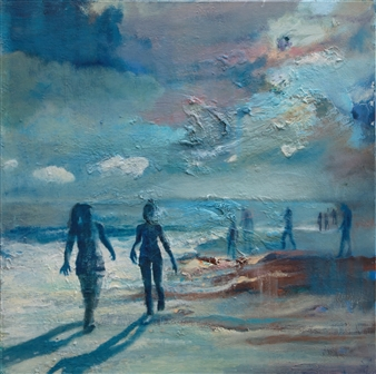Christine Storey-Lange - Atlantic 2 Oil on Canvas, Paintings