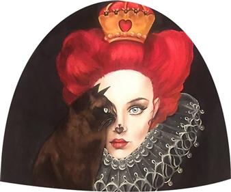 Rosana Largo Rodríguez - Mystery Oil on Canvas of Wood, Bell Shape, Paintings