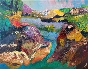 Mira Seeman - New Zealand Nature Oil on Canvas, Paintings
