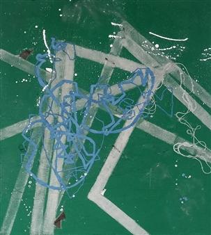 Marek Wasylewicz - BM18SI Twine & Oil on Canvas, Mixed Media