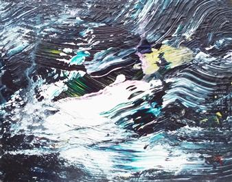 Makoto Oshima - No. 210211 Acrylic on Canvas, Paintings