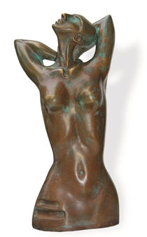 Renuka Sondhi Gulati - Graceful Stripes Bronze, Sculpture