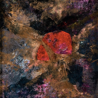 Tsuhako Maria - My Heart Piece Mixed Media on Canvas Board, Mixed Media