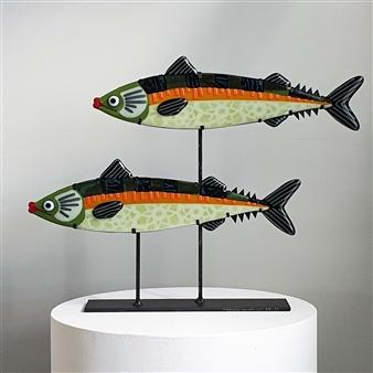 Anne Felicie Nickels - Makrellius Duoarte Kiln Formed Glass, Sculpture