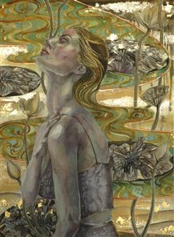 Yuki Goodman - Requiem III Watercolor & Ink on Paper, Paintings